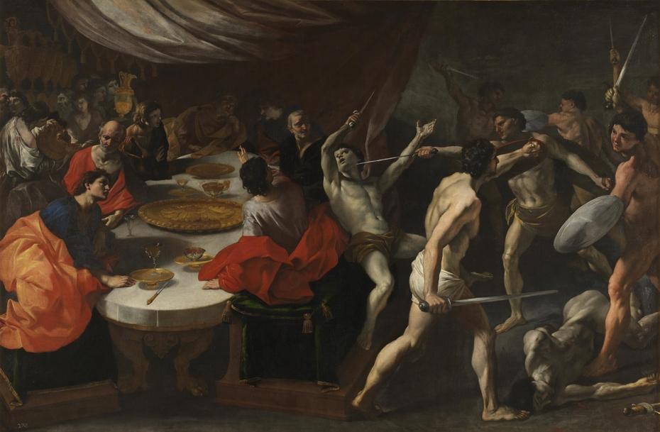 Gladiators at a Banquet