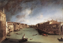 Grand Canal, Looking Northeast from Palazzo Balbi toward the Rialto Bridge
