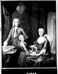 Hendrik van Buren (1711-1789), zijn vrouw Anthonia Marcus (1711-1780) en hun zoon Arent Hendrik (geb. 1732)