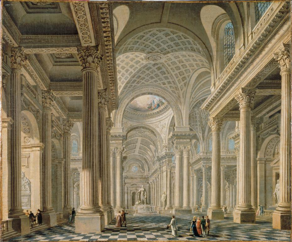 Intérieur de l'église de la Madeleine d'après le projet de Contant d'Ivry