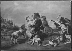 Kampf zwischen Bären und Hunden (Kopie nach)