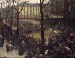 L'Escorte du président Wilson, place Saint-Augustin