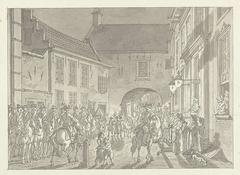 L.P. van de Spiegel naar de Gevangenpoort gebracht, 1795