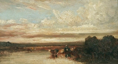 Landscape with Cattle Watering