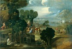 Landscape with saints