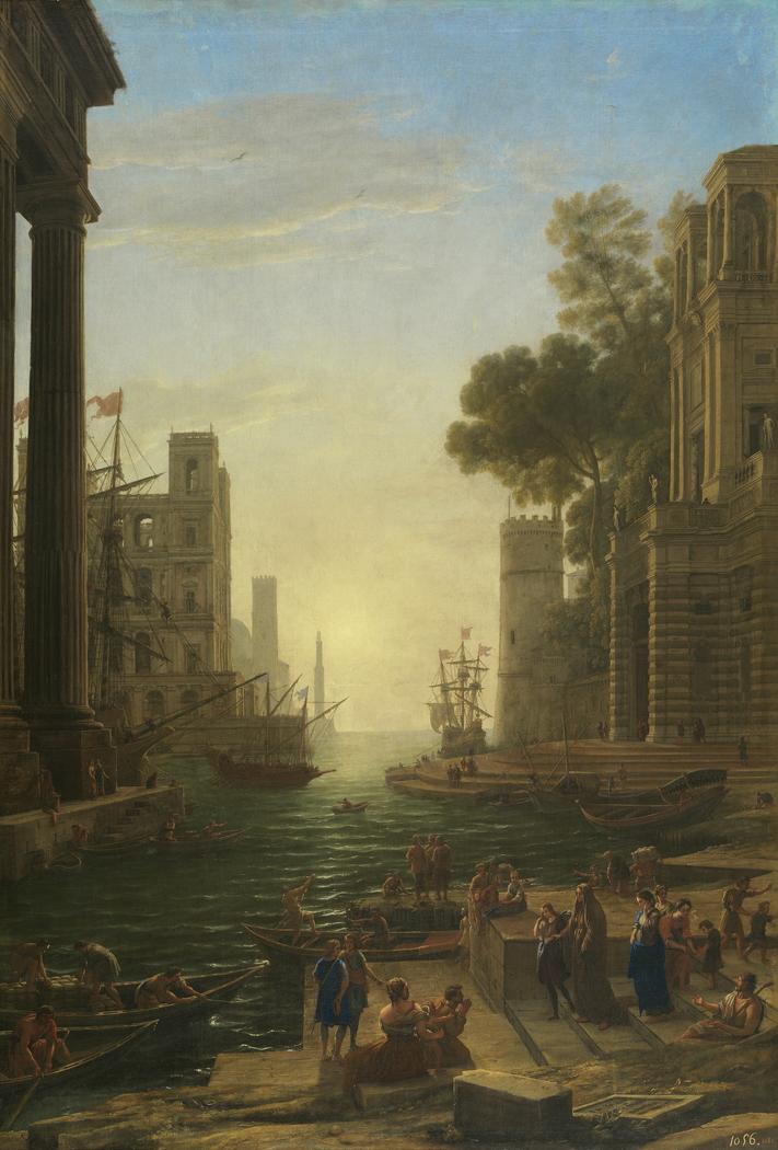 Landscape with the Embarkation of Saint Paula Romana at Ostia