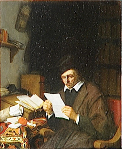 Lawyer reading in his study