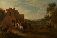 Louis XIV and his Suite Halting at an Inn Door