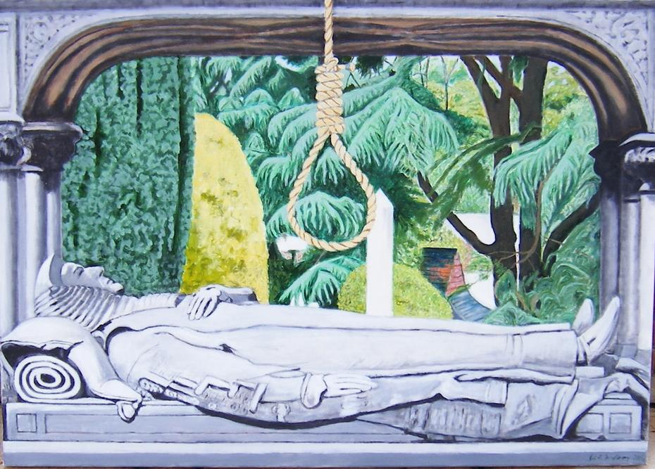'Marble judge' (2006), Oil on Linen, 140 x 100 cm.
