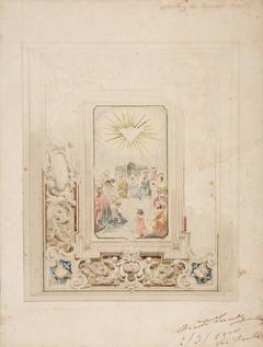 Matriz do Espírito Santo esboço do tecto da Capella Mor (Zimborio)