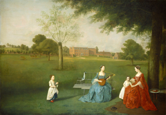Members of the Maynard Family in the Park at Waltons