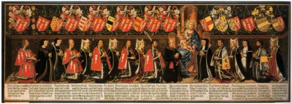 Memorial board of the family lineage of the Lords Van Swieten