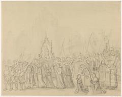 Middeleeuwse processie