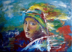 Modern Day Girl With Pearl Earring