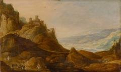 Mountain landscape with castle