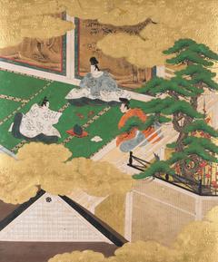Mume ga e (A Branch of Plum), Tale of Genji: Chapter 32