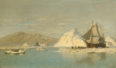 Off Greenland—Whaler Seeking Open Water
