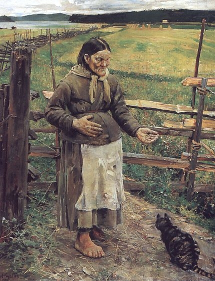 Old Woman With a Cat
