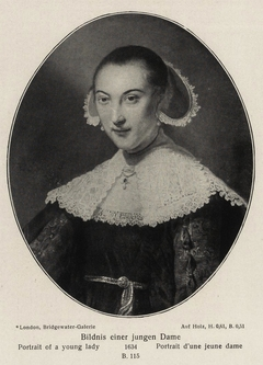 Oval portrait of a young lady aged 18