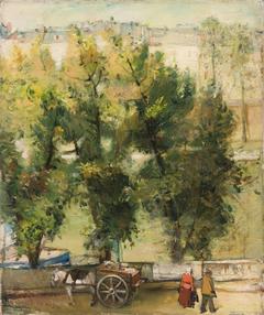 """""""Paris motif"""" (""""Landscape with a horse"""")"""