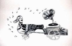 Pato musiquero y querendon.