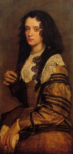 Portrait d'une femme à la mantille