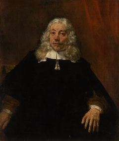Portrait of a white-haired man
