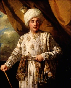 Portrait of Captain John Foote in his Mughal Robes