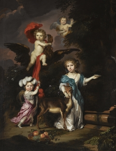 Portrait of Four Children as Ceres Ganymede Cherub and Diana