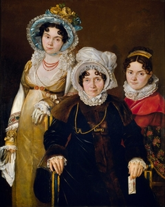 Portrait of Madame De Tangry and Her Daughters