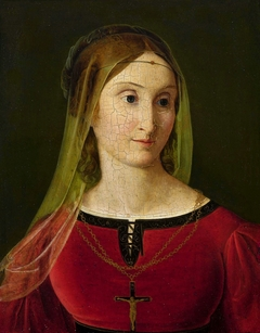 Portrait of Maria Potocka née Rzewuska in Renaissance costume.
