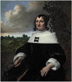 Portrait of Maria van Arckel, three-quarter-length, seated, before a balustrade