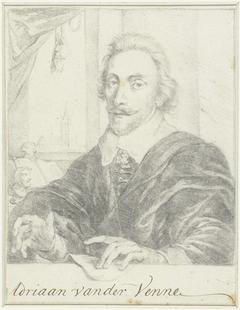 Portret van de schilder Adriaan van de Venne
