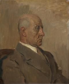 Portret van W.A.F. Bannier, leraar Stedelijk Gymnasium, Utrecht