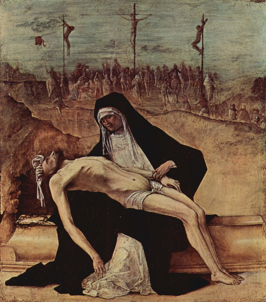 Predella of Stories of Christ: 2. Pietà