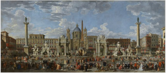 Preparations to Celebrate the Birth of the Dauphin of France in the Piazza Navona