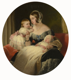 Queen Victoria with the Princess Royal and the Prince of Wales