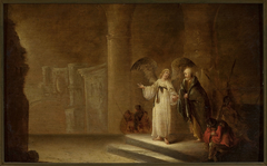 Release of St. Peter from prison (Acts 12:5-8)
