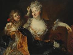 Retrato de Marguerite-Elisabeth Forest de Largillierre y su hijo Nicolás