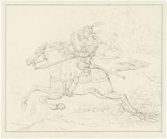 Ridder met een vrouw te paard