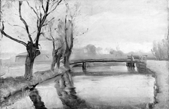 River Landscape with a Bridge