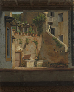 Roman Courtyard Interior. Copy after Eckersberg