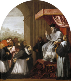 Saint Bruno and his Six Companions Visit Saint Hugo