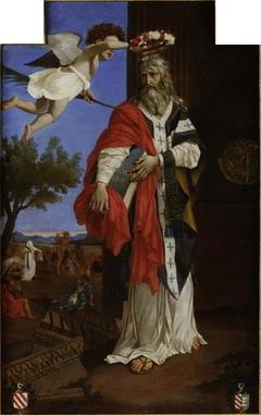 Saint Denys l'aréopagite couronné par un ange
