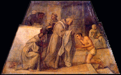 Saint Didacus of Alcalá receiving the franciscan habit