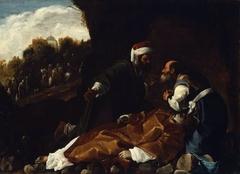 Saint Stephen Mourned by Saints Gamaliel and Nicodemus