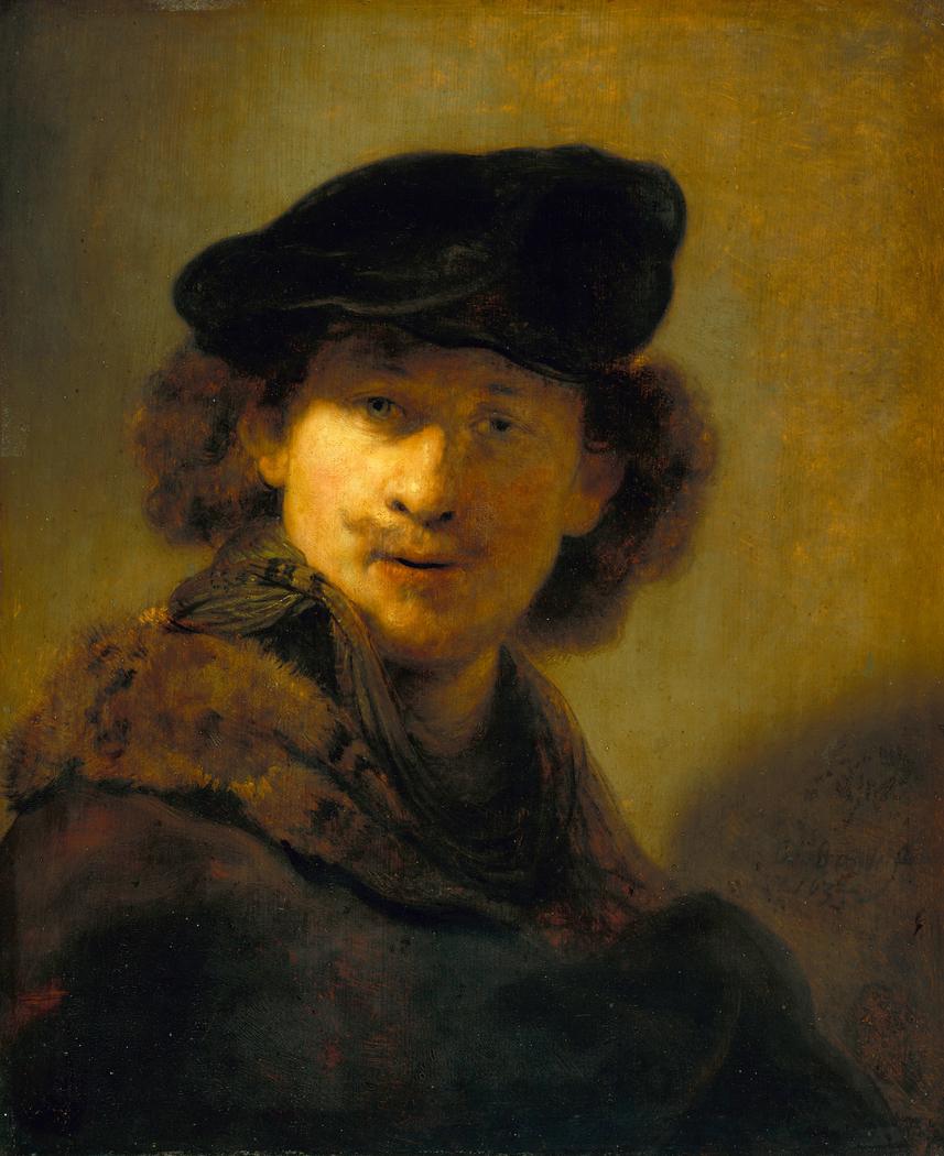 Self-portrait in a Velvet Beret