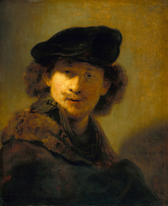 Self-portrait in a Velvet Beret