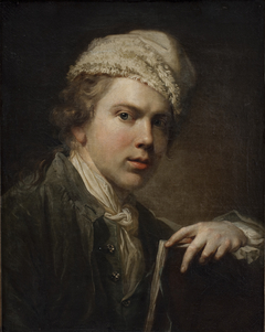 Self-portrait with Portfolio