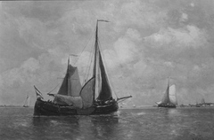 Ships on the River Waal